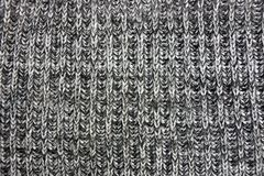 Gray texture of a piece of cloth made of wool Royalty Free Stock Image