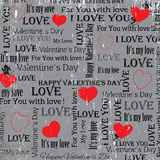 Gray background to the Valentine's Day. vintage. Set 5. Vector Stock Images