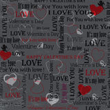 Gray background to the Valentine's Day. vintage. Set 5. Vector Royalty Free Stock Photos