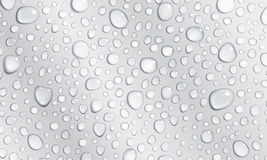 Gray background of water drops Royalty Free Stock Photography