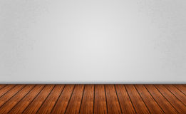 Gray Background with Wooden Floor Stock Image