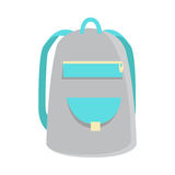 Gray Backpack Icon Stock Photography