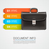 Gray bag business info Stock Photography