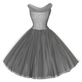 Gray ball dress. Isolated image Stock Photography