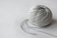 Gray ball of string Stock Photo