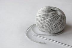 Gray ball of string Stock Photo