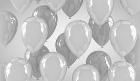 Gray Balloons Royaltyfria Bilder