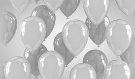 Gray Balloons Images libres de droits
