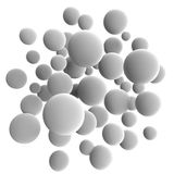 Gray balls. 3d volumetric sphere balls background Royalty Free Stock Photography