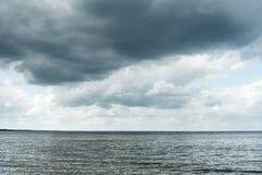 Gray Baltic sea. Royalty Free Stock Photography