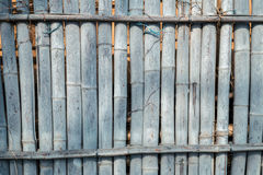 Gray bamboo fence background. Gray color bamboo fence background Royalty Free Stock Photography