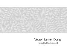 Gray banner with lines Royalty Free Stock Photo