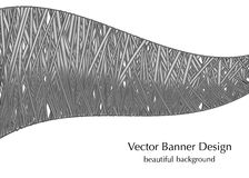 Gray banner with lines Stock Image