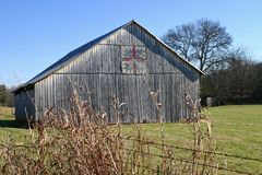 Gray Barn (horizontal) Royalty Free Stock Photography