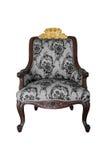 Gray Baroque Chair en el fondo blanco fotografía de archivo