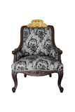 Gray Baroque Chair on white background Stock Photography