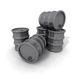 Gray Barrels Stock Images