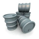 Gray Barrels Royalty Free Stock Image