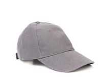 Gray baseball cap. On a white background Royalty Free Stock Photo