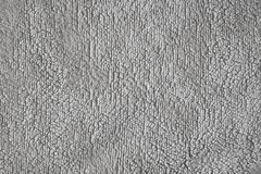 Gray bath towel texture, background royalty free stock photography