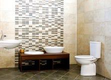 Gray bathroom Royalty Free Stock Photos