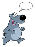 Gray Bear Cartoon Character de sourire Image stock