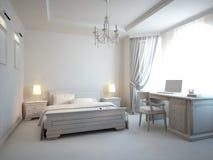 Gray Bedroom Royalty Free Stock Photos