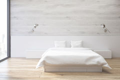 Gray bedroom Royalty Free Stock Images