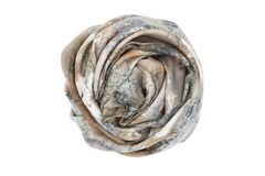 A gray and beige silk scarf associated rose royalty free stock photo