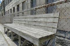Gray Bench resistido Imagen de archivo libre de regalías