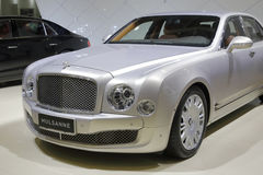 Gray bentley mulsanne car Royalty Free Stock Photography