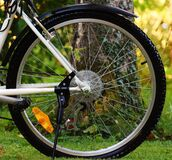 Gray Bicycle Wheel Royalty Free Stock Images