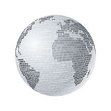 Gray binario della mappa Fotografia Stock Libera da Diritti