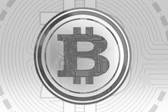 Gray Bitcoin Background Photo stock