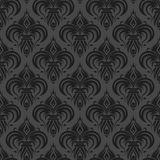 Gray black antique seamless wallpaper. Gray antique seamless wallpaper background design tile Stock Photos
