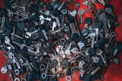 Gray and Black Assorted Key royalty free stock photos
