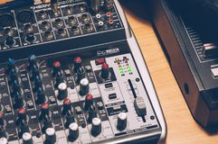 Gray and Black Audio Mixer royalty free stock photography