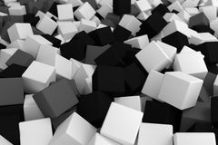 Gray black cubes. 3d cg volumetric gray black cubes background Royalty Free Stock Photography