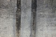Gray black dirty concrete wall of the building Royalty Free Stock Photo