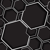 Gray and black hexagon background. For graphic design Royalty Free Stock Images