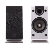 Gray and black sound speaker. Royalty Free Stock Images