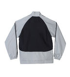Gray and black sport jacket with blank back Stock Photos