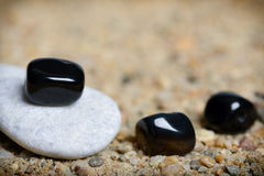 Gray and black stones Stock Image