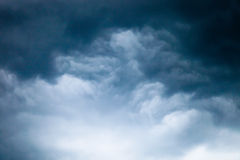 Gray and black storm clouds Stock Image