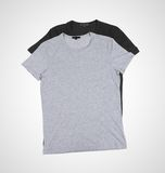Gray and black tshirt Stock Images