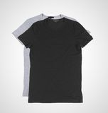 Gray and black tshirt Royalty Free Stock Photography