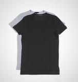 Gray and black tshirt Royalty Free Stock Photography