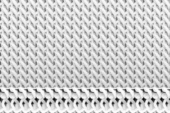 Gray or black and white b&w Abstract CGI composition, string mat geometric backdrop. Wallpaper for graphic design. 3D render. Gray or black and white b&w CGI royalty free illustration