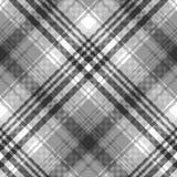 Gray black white pixel check plaid seamless pattern. Vector illustration stock illustration
