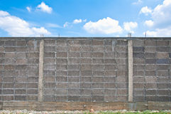 Gray block wall Royalty Free Stock Images